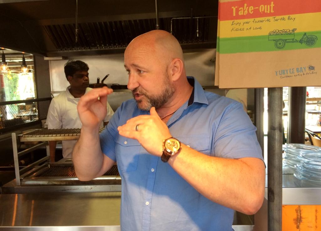 Colin Scott Development & Training Chef at Turtle Bay