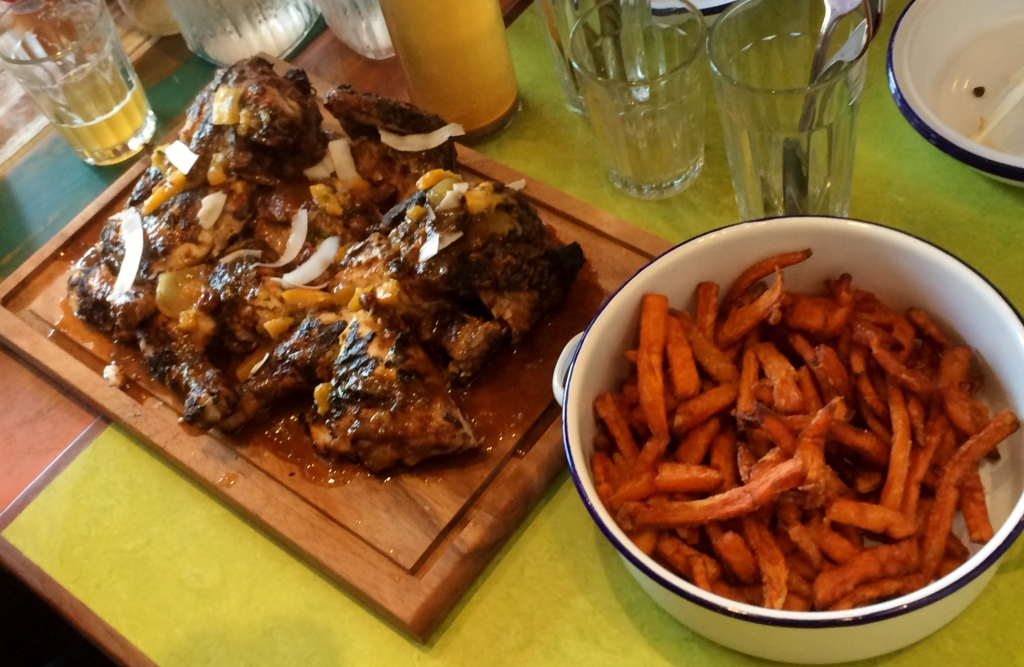 Jerk Chicken & Sweet Potato Fries