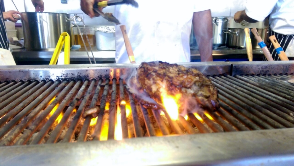 Jerk Chicken Flame Grilled on the Robata