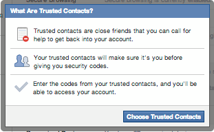 In The Bag PR Facebook Trusted Contacts