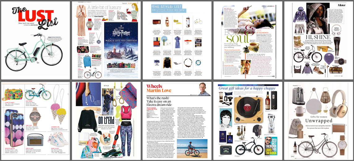 Editorial Product Placement Coverage for Electra Bicycle Company